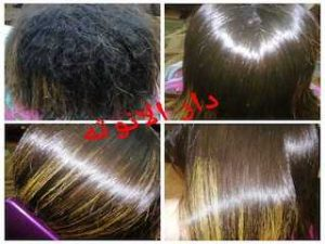 البروتين وفرد الشعر